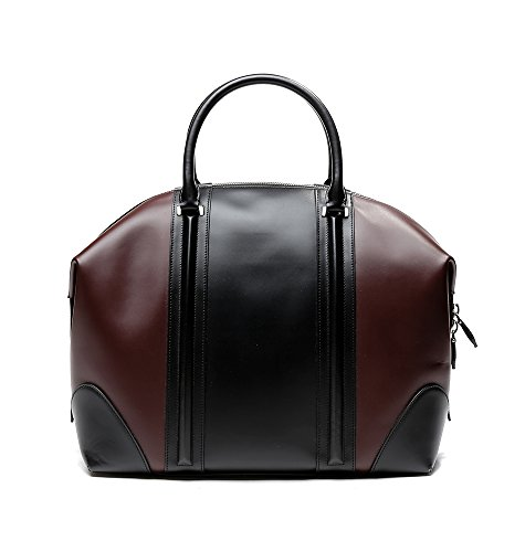 Givenchy Women's Color Blocked Real Leather Tote Handbag One Size Black and Wine by Givenchy (Image #4)