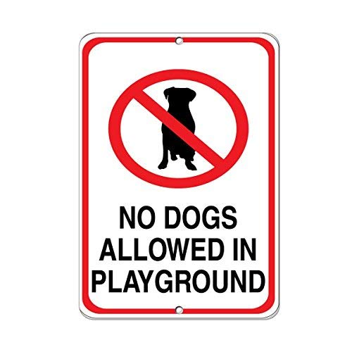 OSWALDO No Dog Allowed Playground Pet Animal Sign Aluminum, used for sale  Delivered anywhere in USA