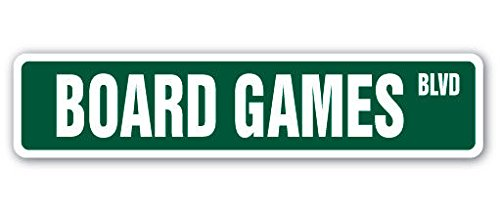 Cortan360 BOARD GAMES Street Sign player chess checkers lover monopoly 8
