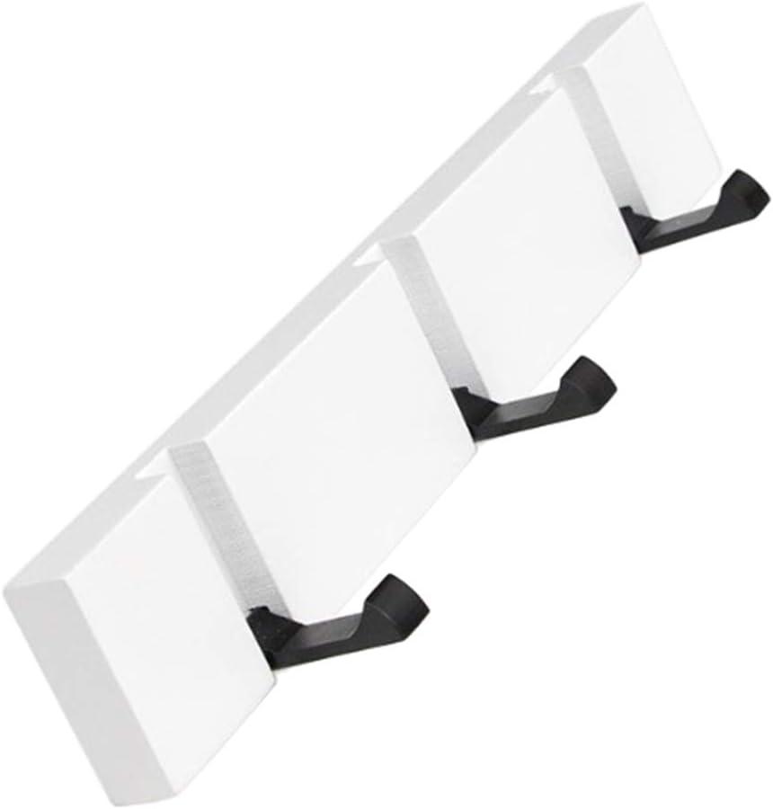 Wei/ß 5 Haken B Baosity Hakenleiste Garderobenleiste Kleiderhaken Wandhaken Handtuchhaken f/ür Zuhause K/üche Bad