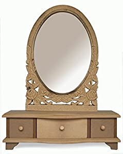 Dressing Table Mirror Shabby/chic With Drawers UNFINSHED