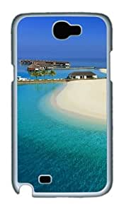 Maldives Luxury Resort Polycarbonate Hard Case Cover For Samsung Galaxy Note 2/ Note II / N7100 - White