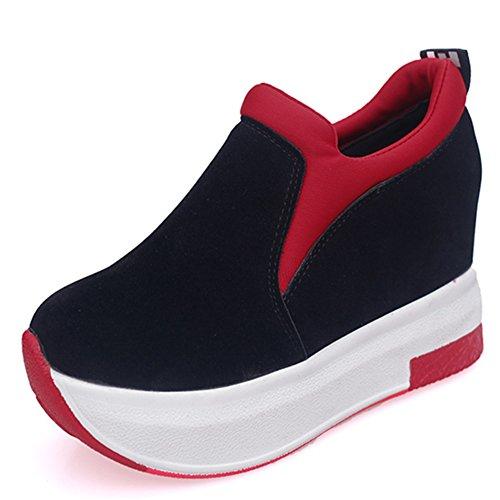 fashion zapatillas pie/Aumentó impermeabilización zapatos de gamuza B