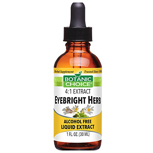 Eyebright Herb Alcohol free Herbal Supplement by Botanic Choice, 2 bottles