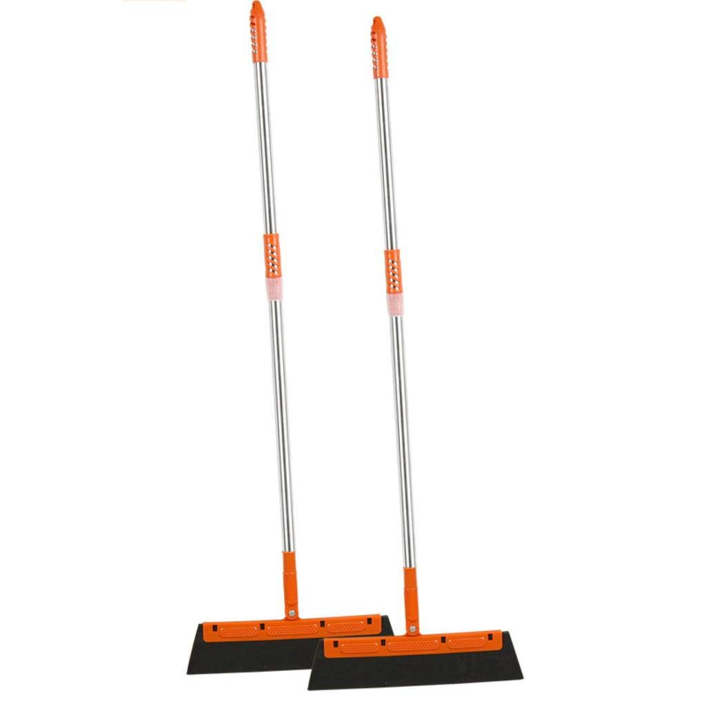 Shower Squeegee Set 2, Professional Telescopic Shaft Squeegees, Easy to Clean, All-Purpose Squeegee for Bathroom, Kitchen, Car Glass, Mirror, Shower Door Orange by JECRY