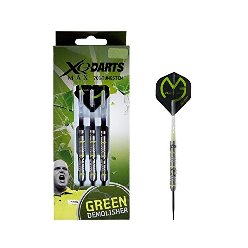 Michael van Gerwen MvG Green Demolisher 70% tungsten 23gm steel tip dart set