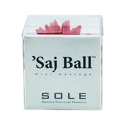 Saj (sAHHHj) Ball Mini Relaxation Massage – Hand/Foot Self Care Wellness Beauty Grooming Travel Gift – Red, Gift Box