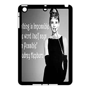 wugdiy Customized Cell Phone Case Cover for iPad Mini with DIY Design Audrey Hepburn