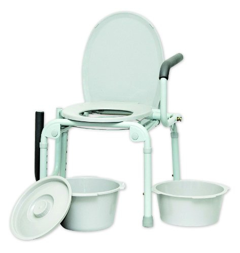 ISG413 - Professional Medical Imports (pmi) Drop Arm Commode 14 x 16 Seat Dimension by Professional Medical Imports (PMI) (Image #2)