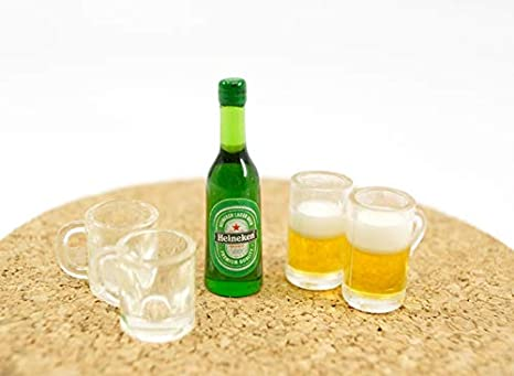 Panghuhu881:12 Dollhouse Miniature iced Beer Set for Doll House Decoration
