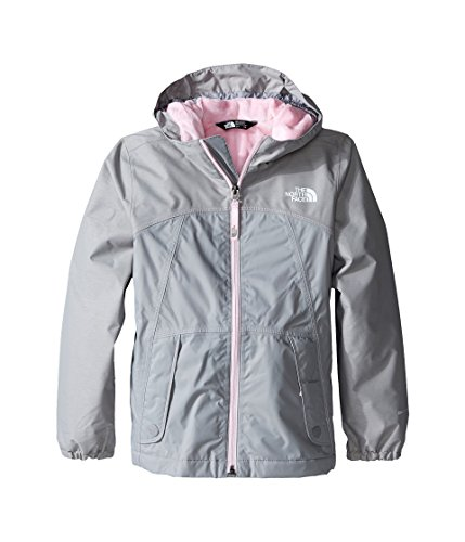 The North Face Warm Storm Jacket Girls' Metallic Silver (Silver Sealed Track)