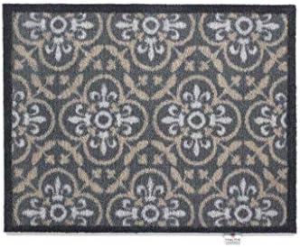 Home indoor doormat 60x40cm Brown Beige anti slip Modern machine washable mats