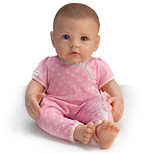 The Ashton - Drake Galleries So Truly Mine Lifelike Baby Doll for Kids Ages 3+: Dark Brown Hair, Blue Eyes (Little Girl With Brown Hair And Blue Eyes)