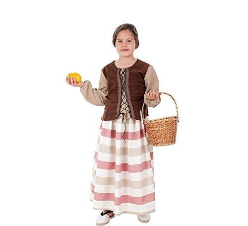 Creaciones Llopis Disfraz de Mercadera Medieval para niña: Amazon ...