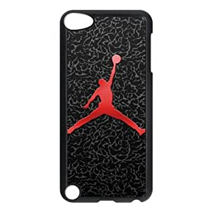 Custom NBA superstar Michael Jordan logo black plastic Case for IPod Touch 5th at luckhappy store