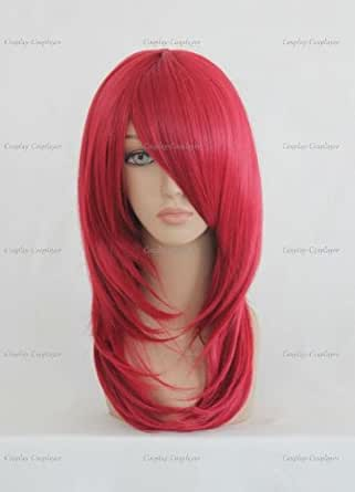 CosplayerWorld Cosplay Wigs NARUTO? Uzumaki Karin Wig For Convention Party Show Red Wine55cm 160g WIG-058b2