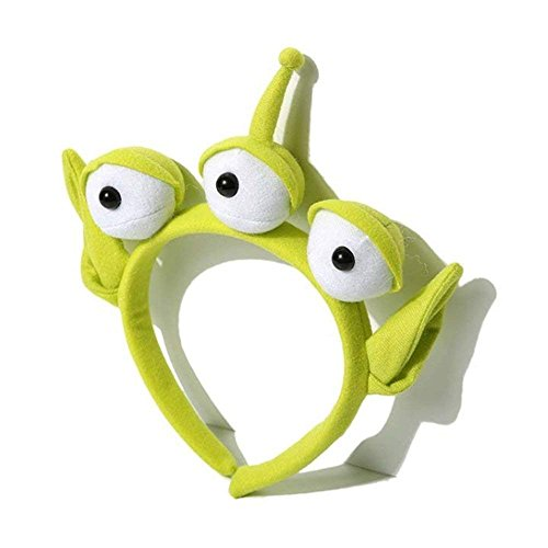 Alien Monster Headband Eyeball Hairband Plush Toys Alien Headband for Halloween ()