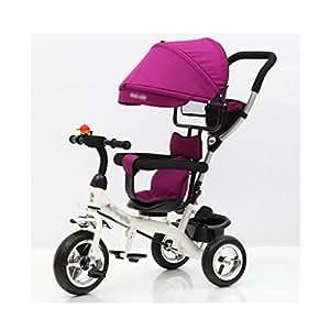 Triciclos Infantil Bicicleta para niños Carritos para bebés Bicicletas, correpasillos (Color : Purple): Amazon.es: Hogar