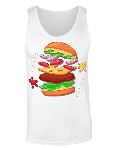 Burger To Be In The Future T-shirt senza maniche per Donne Shirt