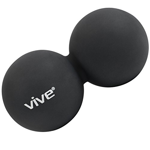 Peanut Massage Ball by Vive - Double Lacrosse Balls for Myofascial Release, Trigger Point & Deep Tissue Roller - Shape Firm Rubber for Sore Muscles, Pressure and Self Massage