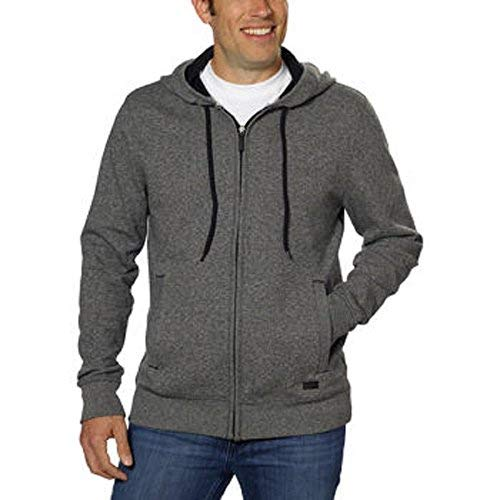 Sweaters Jeans Dkny Men - DKNY Jeans Men's Full Zip Hooded Sweatshirt-Charcoal, Large