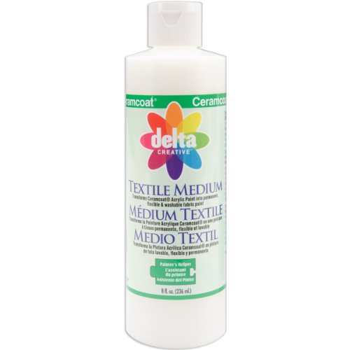 Delta Creative Ceramcoat Acrylic Paint (8-Ounce), 0802 Textile Medium