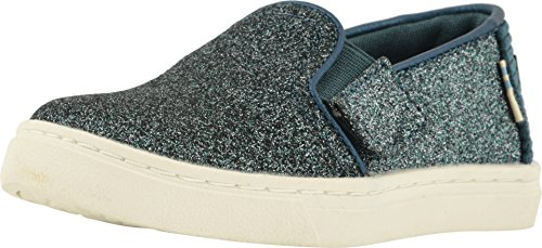 TOMS Women's Canvas Slip-On,Black,6.5 M