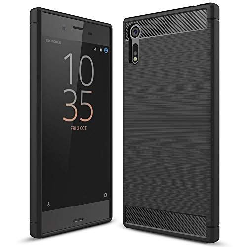 NALIA Silicone Case Compatible with Sony Xperia XZ, Ultra-Thin Case Protective Phone Cover Rubber-Case Gel Soft Skin, Shockproof Slim Back Bumper Protector Smartphone Backcase Shell - Black (Best Case For Sony Xperia Z Ultra)