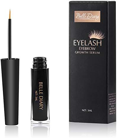 Belle Diary Eyelash Eyebrow Growth Serum,Best Enhancer for Eyelash Growing,Thickening and Strengthening Eyelash,Irritation-free Formula - 3ml