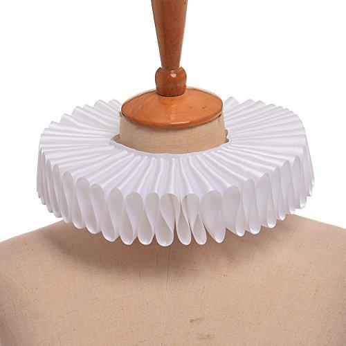 GRACEART Renaissance Elizabethan Ruffle Neck Collar white - Elizabethan Renaissance Costumes