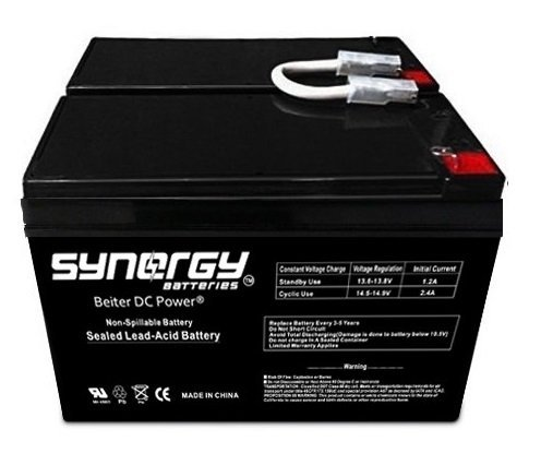 APC Back-UPS XS 1500 Replacement Battery Set (2) 12V 9ah Includes Beiter DC Power