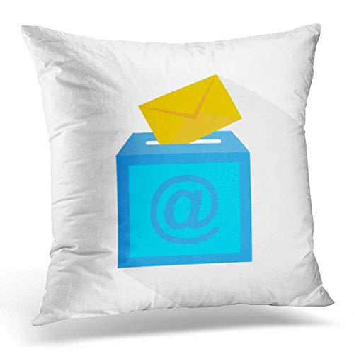 Wbsdfken Throw Pillow Covers Email E Mail Sending Via The Mailbox and  Envelope Address Decorative Pillows Square Size 16 x 16 Inches Home Decor