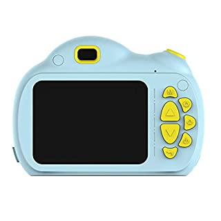 Mkcether 2.4'' 1080P LCD HD Digital Cartoon Kids Camera,Children Front Rear Double Lens Children's Fun Camera with 16G Memory Card,Kid's Camera for Birthday, Christmas
