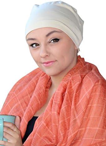51869de4779 Serena Cotton Sleep Cap for Chemo Patients (BEIGE)  Amazon.in ...