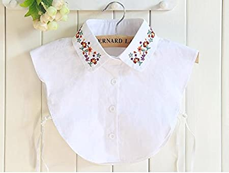 Yulakes Fashion Cuello Vintage Elegante Mujer Mitad Fake Cuello Falso Camisa Blusa Cuello Desmontable de Color Blanco la Mitad Shirt-Style 7: Amazon.es: Hogar