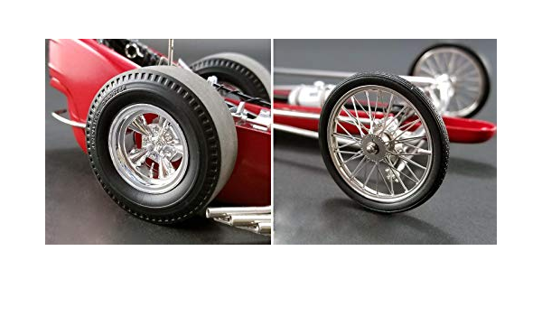 Wheels and Tires Set of 4 Pieces from Tommy Ivo/'s Barnstormer Vintage Dragster 1//18 Model by GMP 18892