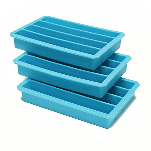 Webake 3 Pack Silicone Ice Cube Trays for Water Bottles Ice Cube Mold 12 Cavity, Easy Release Long Ice Cube Sticks For Bottled Beverage, Sport Drinks, Bottled Soda ()