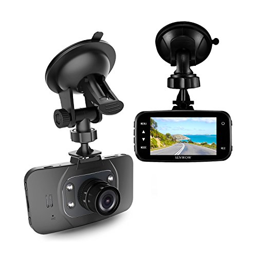 SENWOW 1080P HD Dash Cam Car DVR GS8000L Traveling Driving Data Recorder Camcorder Vehicle Camera Night Vision Dashboard Camera With 120 Degree Angle View Black, Come With 8GB TF Memory Card