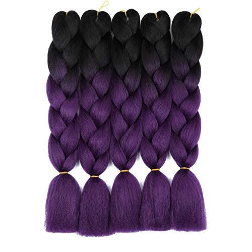 Ombre Braiding Extension Kanekalon 1B purple