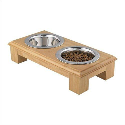 QT Dog 1-Quart Wooden Diner 4-Inch Tall, My Pet Supplies