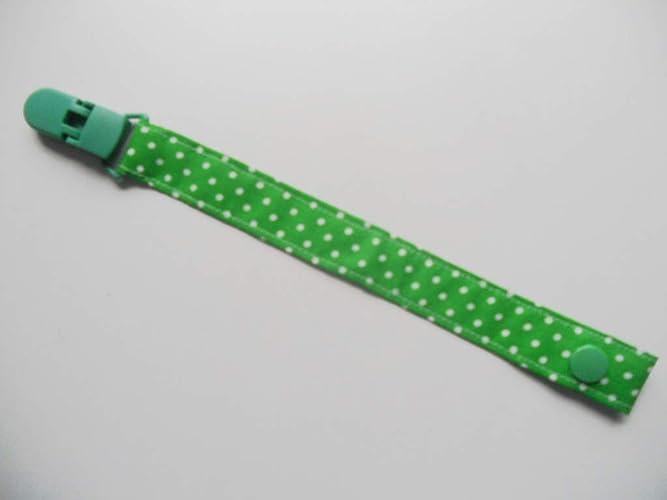 Chupetero de tela con clip Silvys, para bebe de color verde con ...