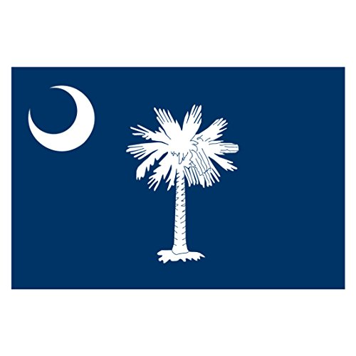 South Carolina State Flag Reflective Decal - Five Inch Wide Full Color Decal, Sticker, for Indoor or Outdoor Use - Full Color Decal On 3M Reflective Material, Sticker