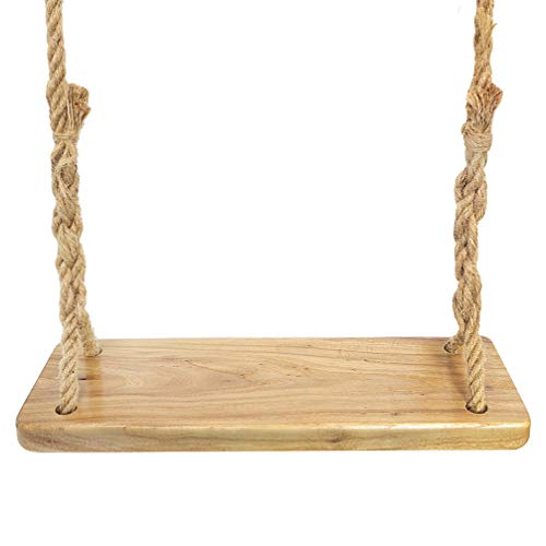 Aoneky Natural Wood Tree Swing Seat