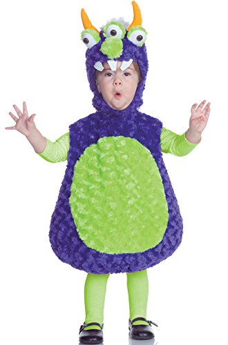 Underwraps Costumes Baby's Three Eyed Monster Belly, Purple/Green, (Toddler Alien Costumes)