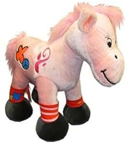 Heunec 721.777 - Caballo Hippie rosado de carga 100 kg en pie