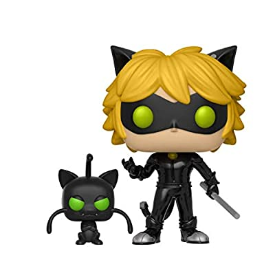 Cat Noir With Plagg Miraculous Funko Pop: Funko Pop! Games:: Toys & Games