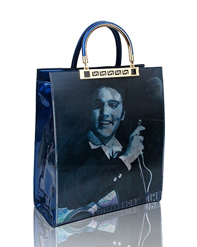 Effect Presley Shopper Print For Women Handbag Elvis Size Bag E cm 29 Tote 5x35x12 blue 3D BnWdYB