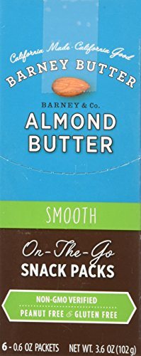 Barney Butter - All Natural Almond Butter - Smooth - Single Snack Pack .6oz - 6 Pack