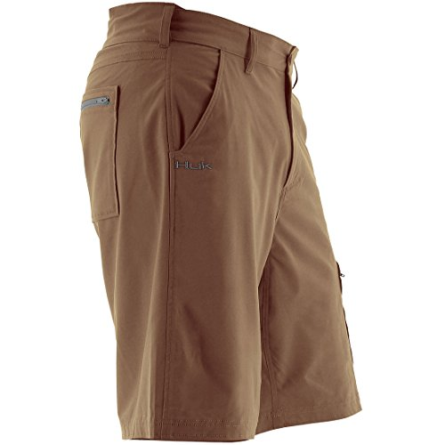Huk Men's Next Level 10.5'' Shorts, Bark, Large (Hanging Bait)