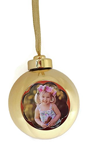 Memories Forever 15 Second Recordable Gold Christmas Holiday Ornament